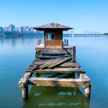 Small dilapidated pier Stock Photography