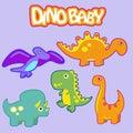 Small dinosaurs, illustration of funny baby dinosaurs