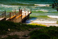 Small Dock In The Public Beach Area Royalty Free Stock Photo