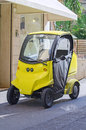 Small electric car postal Stock Images