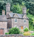 Small english stone cottage shropshire england Royalty Free Stock Images