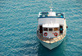 Small excursion motor boat Royalty Free Stock Photo