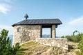 Small Fahrenberg chapel at the top of Fahrenberg hill near Walchensee lake, Bavaria, Germany