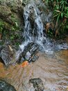 Small falls in the top of the mountain Royalty Free Stock Photo