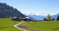 Small farm in Swiss alps Royalty Free Stock Photo