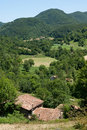 Small farms in the Pyrenees Stock Image