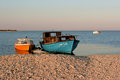 Small fishing boats Stock Images