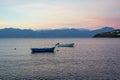 Small Fishing Boats at Dawn, Greece