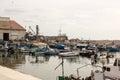 Small fishing harbor in the Old Jaffa port, Mediterranean