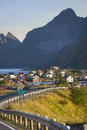 Small fishing port Reine, Lofoten Islands, Norway Royalty Free Stock Photo