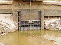 Small floodgate on the canal Royalty Free Stock Images