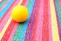 Small foam ball in play.
