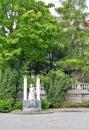 Small fountain in Bratislava, Slovakia. Royalty Free Stock Photo