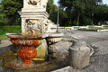 Small fountain in gardens of villa borghese is a large landscape garden rome containing a number buildings museums galleria and Royalty Free Stock Photos