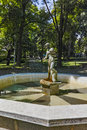 Small Fountain in the  park in the center of the town of Hisarya, Bulgaria Royalty Free Stock Photo