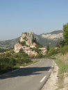 Small French hillside village Stock Photos