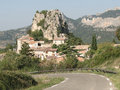 Small French hillside village Royalty Free Stock Images