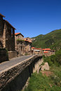 Small French Village in Pyrenees Royalty Free Stock Photo