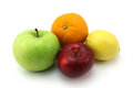 Small fruit set on a white background Royalty Free Stock Photography