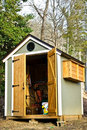 Small Garden Shed/Vertical Royalty Free Stock Photo