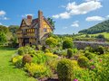 Stokesay Castle Gatehouse and garden, Shropshire, England. Royalty Free Stock Photo