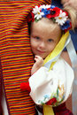 Small girl dressed in ukrainian traditions Stock Photography