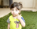 Small Girl In Garden