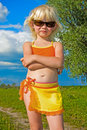 Small girl in sunglasses Royalty Free Stock Photography