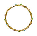 Small gold bracelet with fake gemstones Stock Images
