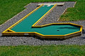 Small golf course built for children in a recreational space Stock Images