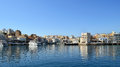 Small Greek Mediterranean port Royalty Free Stock Image