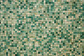 Small green mosaic tiles Royalty Free Stock Photo