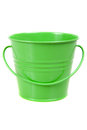 Small green pail bucket isolated Stock Image