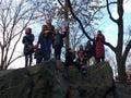 Central Park Spectators, Women`s March, NYC, NY, USA Royalty Free Stock Photo