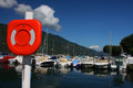 Small Harbor in Aix-Les-Bains Stock Photography