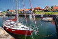 Small harbor in gudhjem on bornholm denmark Royalty Free Stock Photography