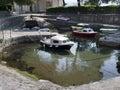 Small harbor for small boats Royalty Free Stock Photo