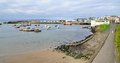 Small harbourt in the city harbour with boats portrush northern ireland Royalty Free Stock Image