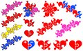 Small hearts in the form of a puzzle