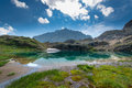 Small high mountain lake Royalty Free Stock Photo