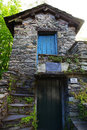 Small historic house bridge ambleside cumbria in the english lake district and which is a tiny cottage built on a bridge across a Stock Photography