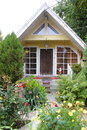 Small home beautiful house with garden Royalty Free Stock Images