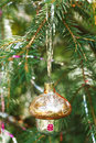 Small home close up christmas decoration tree vintage Royalty Free Stock Image