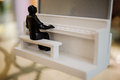 Small home decor pianist statue Royalty Free Stock Photo