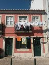Small house clothes drying in the balcony Royalty Free Stock Images
