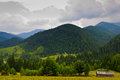 Small house in the mountains picture was taken it shows a little Royalty Free Stock Image
