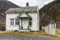 A small house in norway on the shore of the fjord Royalty Free Stock Photo