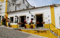 Small House at Obidos Village Stock Photography