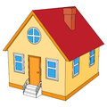 Small house with red roof Royalty Free Stock Photo