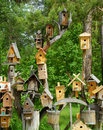 Small houses for birds Royalty Free Stock Photo